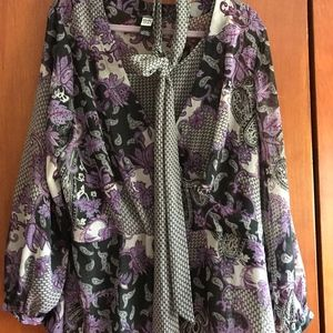 Purple Paisley Blouse